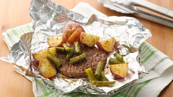 Hamburger Potato Foil Dinner 3